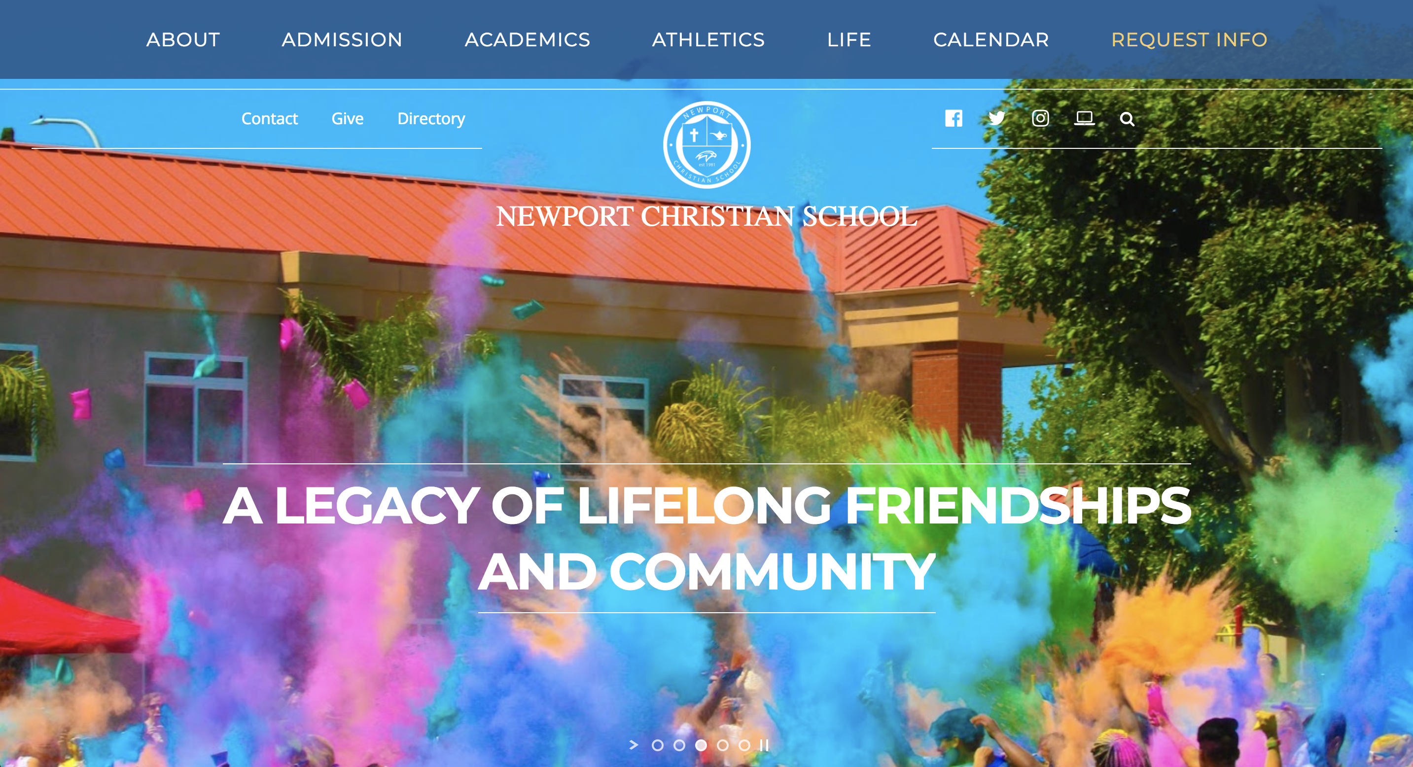 Web Design Client - Newport Christian School