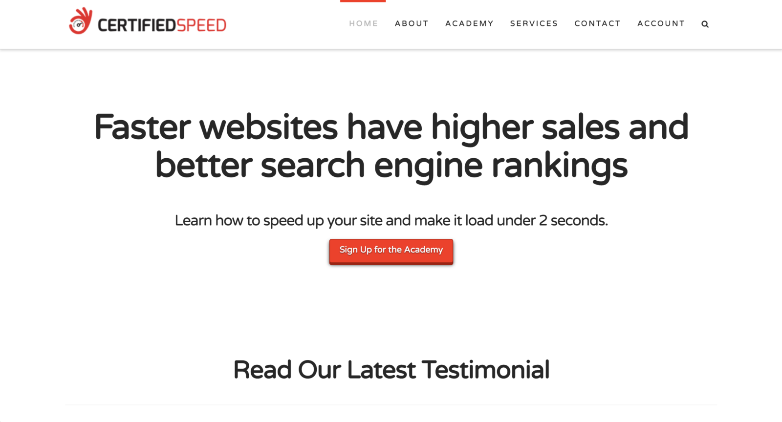 Web Design Client - Certified Speed